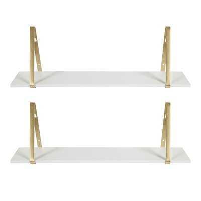 Mcmartin Wooden 2 Pieces Wall Shelf Set - AllModern