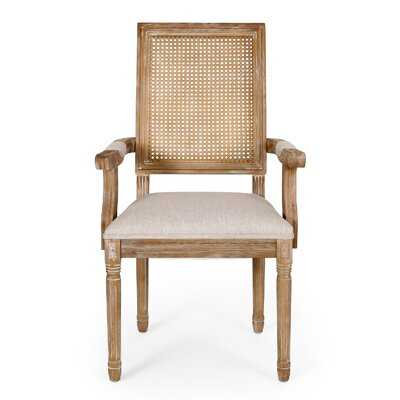 Ellome Wood And Cane Dining Chair (Set Of 2) - Wayfair