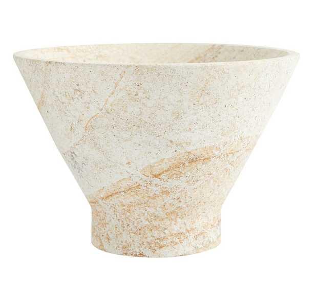 Handmade Sandstone Decorative Bowl, Natural - Small - Pottery Barn