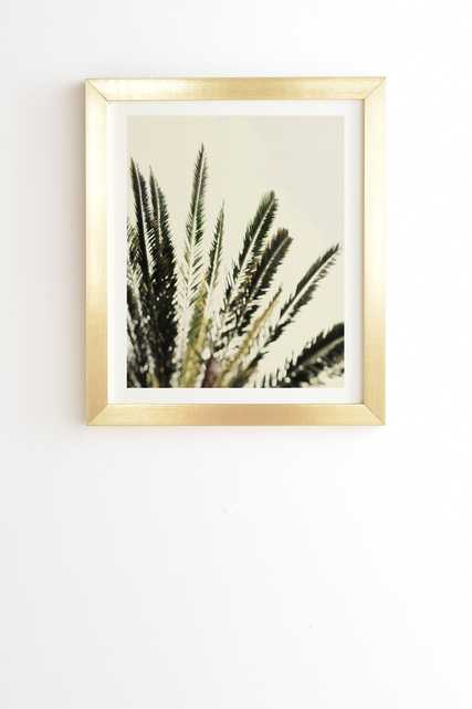 """The Palms No 2 by Chelsea Victoria - Framed Wall Art Basic Gold 19"""" x 22.4"""" - Wander Print Co."""