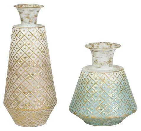Goethe Metal Table Vase, Set of 2 - Wayfair