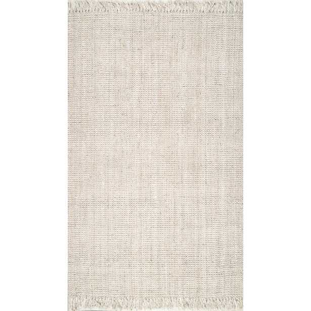 nuLOOM Natura Chunky Loop Jute Off-White 6 ft. Square Rug, Beige - Home Depot