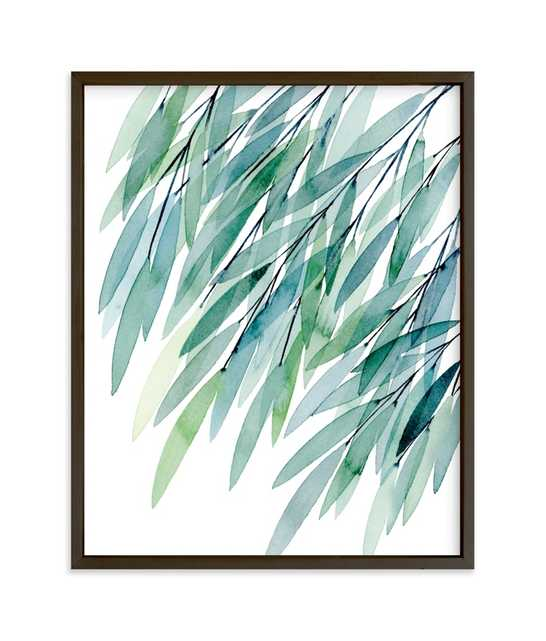 Turquoise Rustling Leaves No. 1 Children's Art Print - Minted