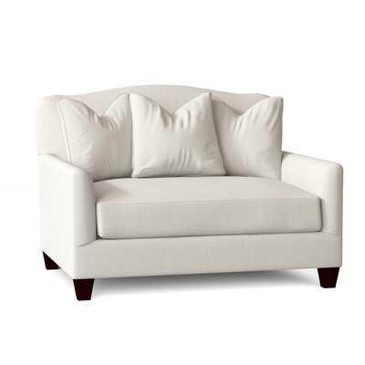 "52"" W Polyester Blend Down Cushion Chair and a Half - Wayfair"