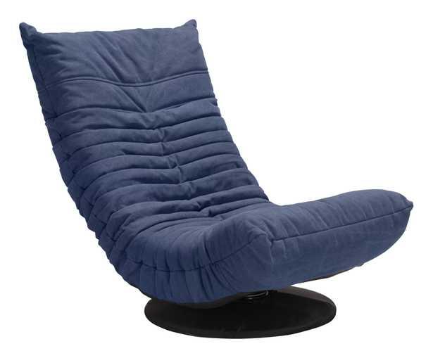 Down Low Swivel Chair Blue - Zuri Studios