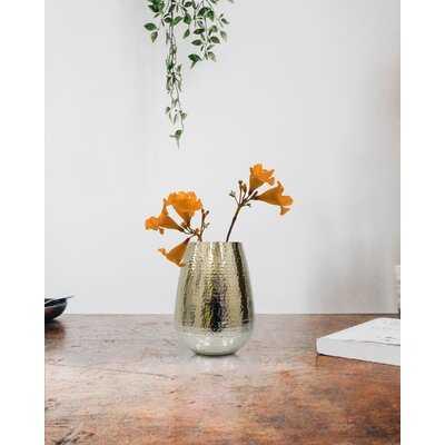 Perina Gold 7.5'' Indoor / Outdoor Metal Table Vase - Wayfair