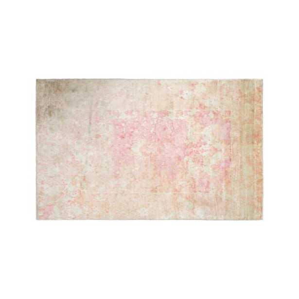 Pink Printed 8x10' Viscose Rug - Crate and Barrel