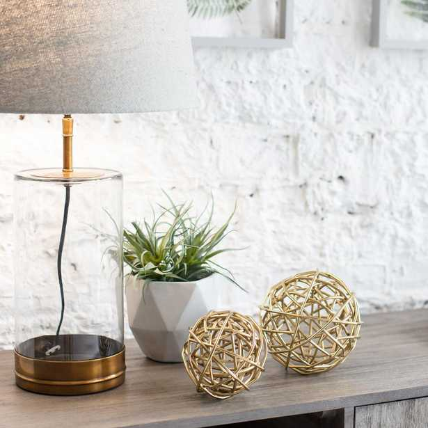 Madeleine Home Bamburgh Deco Wire Sphere Set Of Two 6''& 4.25'', Electrophoratic Gold - Home Depot