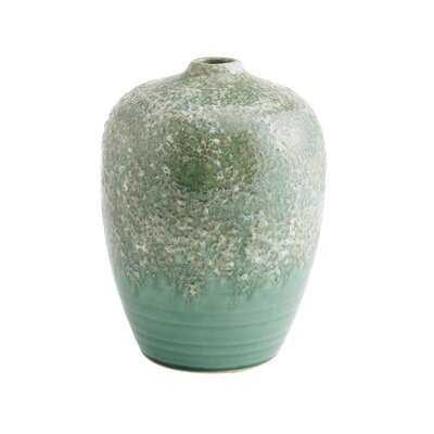 "Teal/Green 9.65"" Ceramic Table Vase - Wayfair"