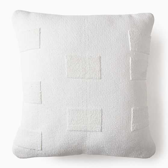 """Outdoor Tufted Pillow, 24""""x24"""", White - West Elm"""