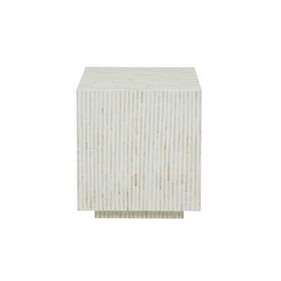 Decicco Square Side Table Black Stripe - Wayfair