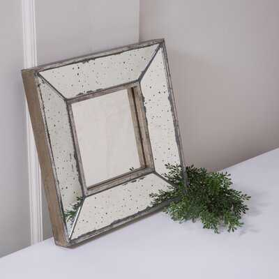 """Antique 12"""" X 12"""" Square Framed Wall Accent Mirror, Set Of 2 - Wayfair"""
