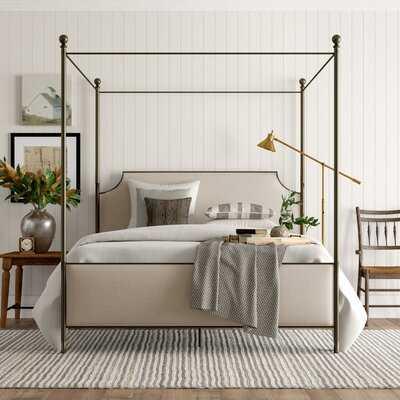 Alexandra Upholstered Canopy Bed - Wayfair