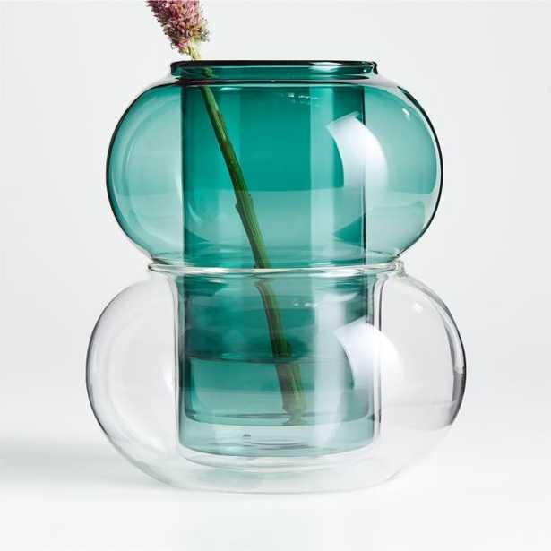 Modular Blue Glass Vase/Hurricane - Crate and Barrel