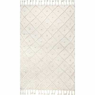 Ceniceros Handmade Flatweave Off-White Area Rug - Wayfair
