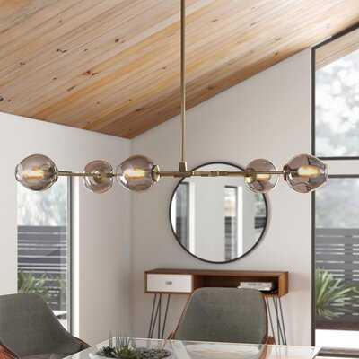 Rockton 5 - Light Sputnik Modern Linear Chandelier - AllModern