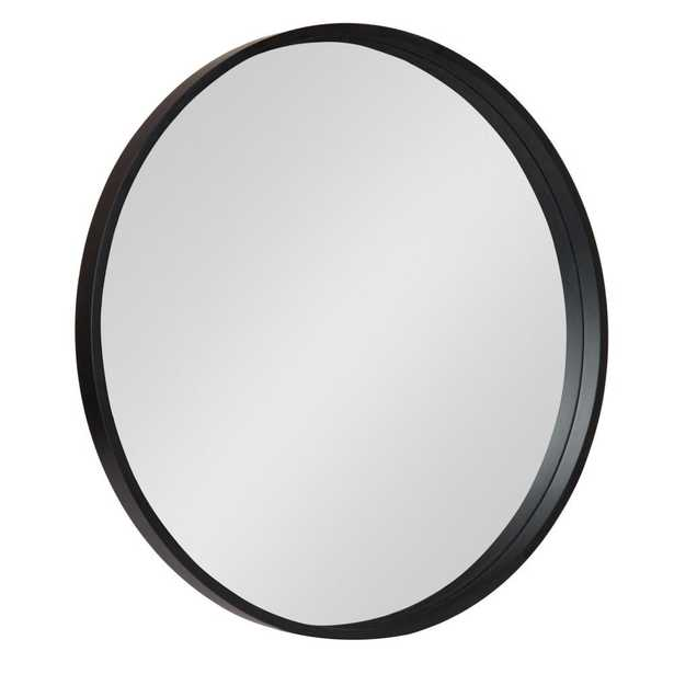 Travis Round Black Wall Mirror - Home Depot