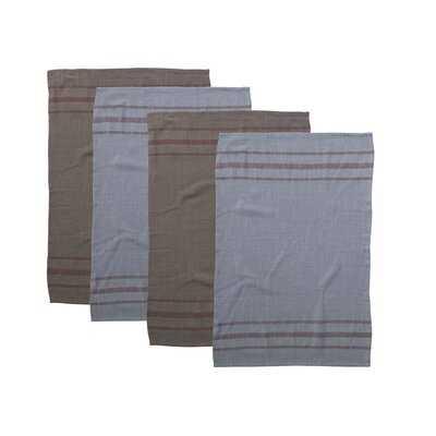 Overdyed Cotton Woven Tea Towel - Birch Lane