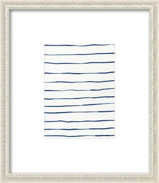 Blue Stripes by Georgiana Paraschiv for Artfully Walls - Artfully Walls