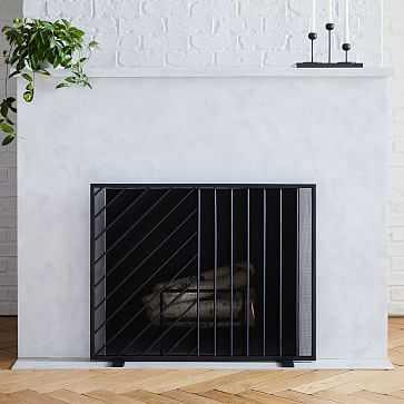 Parellel Lines Fireplace Screen - West Elm