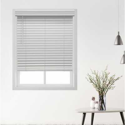 Deluxe Cordless Faux Wood Room Darkening Horizontal/Venetian Blind - Wayfair