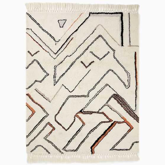 Wanderer Shag Rug, 8'x10', Copper - West Elm