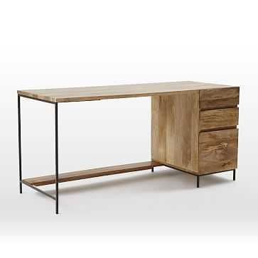 Industrial Storage Modular Desk, Set 1: Desk + Box File - West Elm