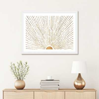 'Let the Sunshine in' by Modern Tropical - Graphic Art Print - Wayfair