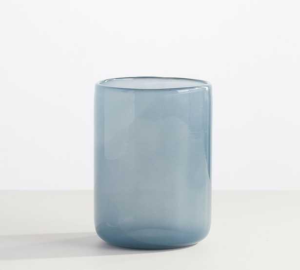Modern Glass Votive Holders, Dusty Blue, Large - Pottery Barn