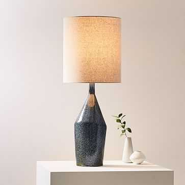 Asymmetry Ceramic Table Lamp, Large, Speckled Moss, Set of 2 - West Elm