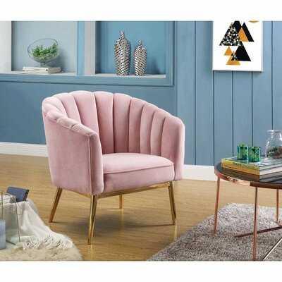 Tonnele Velvet Barrel Chair - Wayfair