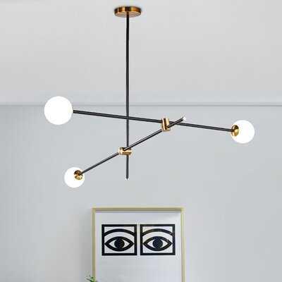 Tommen 3 - Light Sputnik Modern Linear Chandelier - Wayfair