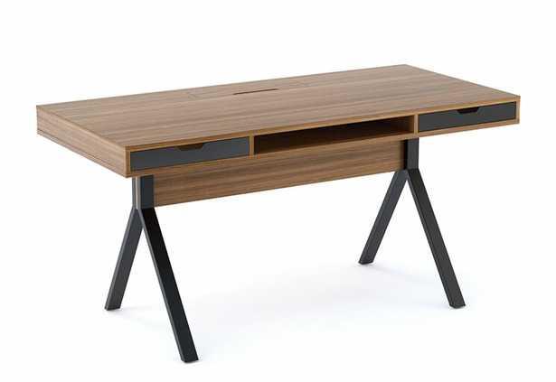 BDI Modica Desk Color (Top/Frame): Natural Walnut - Perigold