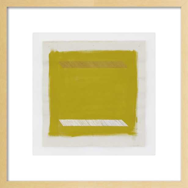 Gold Lion with Gold Parallel Lines by Emily Keating Snyder for Artfully Walls - Artfully Walls