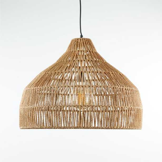 Cabo Large Woven Pendant Light - Crate and Barrel