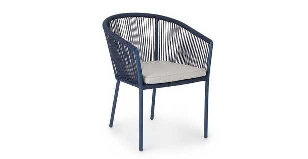 Corda Beach Sand Indigo Blue Dining Chair- Set of 2 - Article