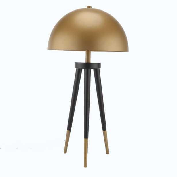 Darwin Modern Classic Gold Metal Dome Table Lamp - Kathy Kuo Home
