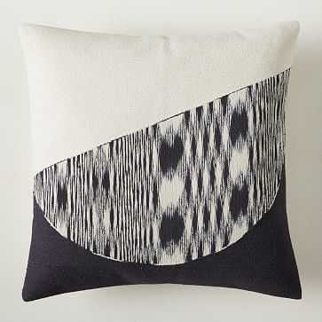 """Shadow Graphic Pillow Cover, 20""""x20"""", Black - West Elm"""
