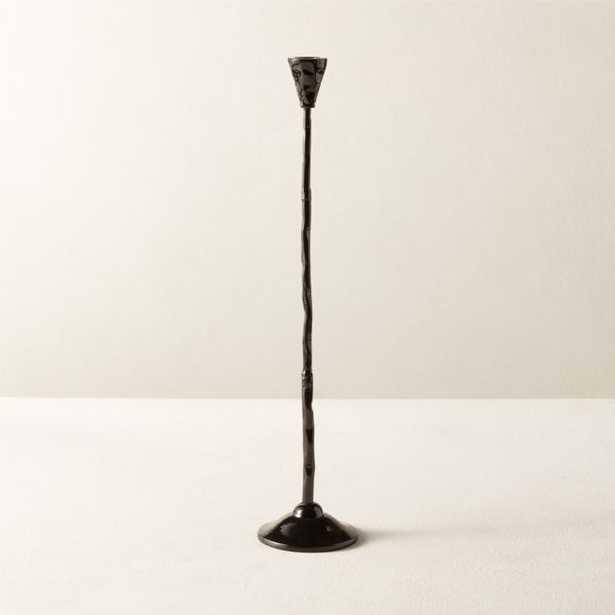 Rho Black Taper Candle Holder Large - CB2