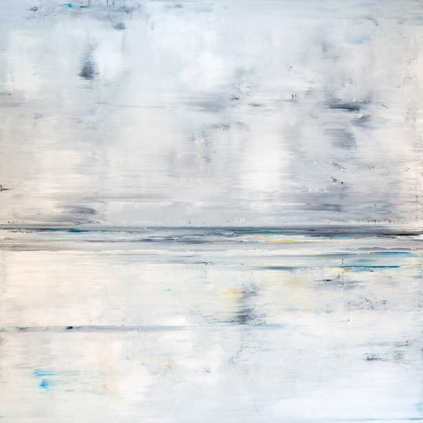 """John Beard Collection 'Low Tide' Painting on Canvas Size: 40"""" H x 40"""" W x 1.5"""" D - Perigold"""