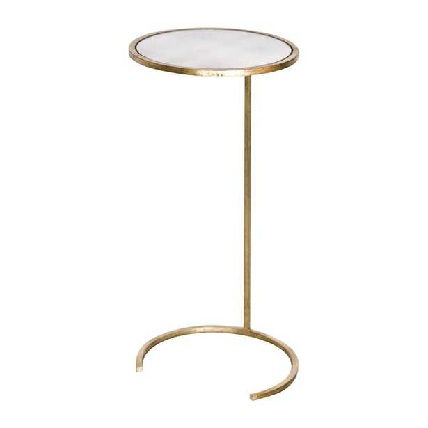 Worlds Away Cigar C End Table Color: Gold Leaf - Perigold
