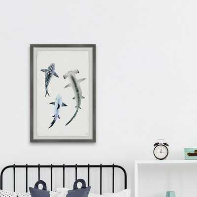 Chisdock 'Shark Trio' Framed Art - Wayfair