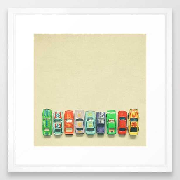 Get Set Go Framed Art Print by Cassia Beck - Vector White - MEDIUM (Gallery)-22x22 - Society6