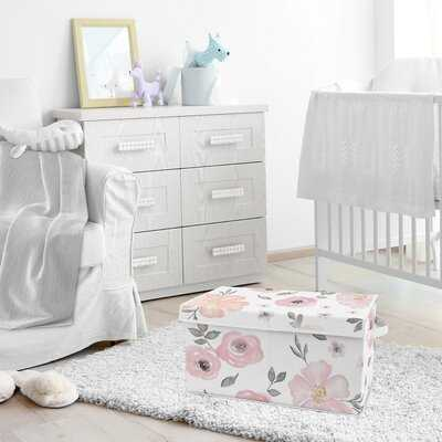 Watercolor Floral Storage Fabric Toy Box - Wayfair