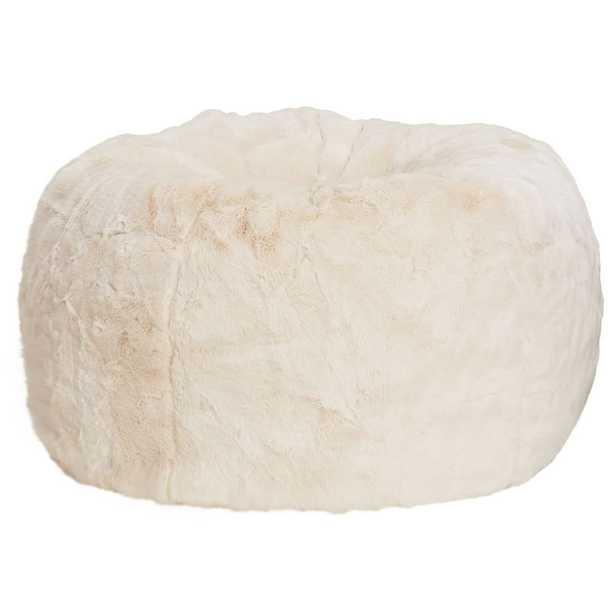 Polar Bear Faux Fur Bean Bag Chair, Large, Slipcover + Bean Bag Chair Insert - Pottery Barn Teen