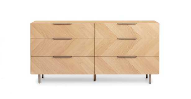 Nera Oak 6 Drawer Double Dresser - Article