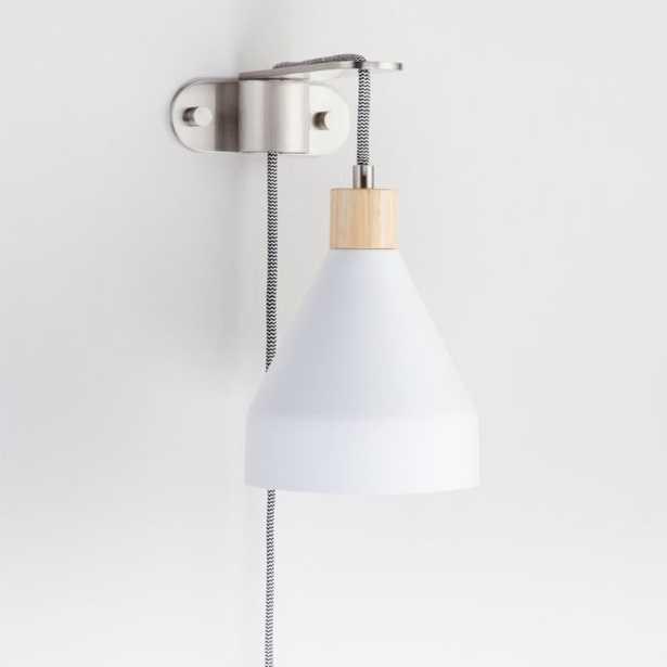White Bracket Pendant Light - Crate and Barrel
