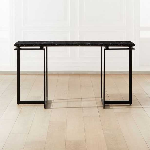 Fullerton Modular Black Desk with Two Legs - CB2