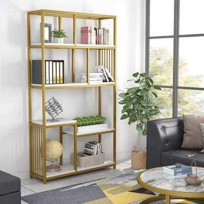 "Hinsdale 71.06"" H x 39.37"" W Metal Standard Bookcase - Wayfair"