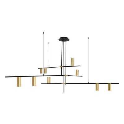 Kobbe 9 - Light Sputnik Modern Linear Chandelier - Wayfair